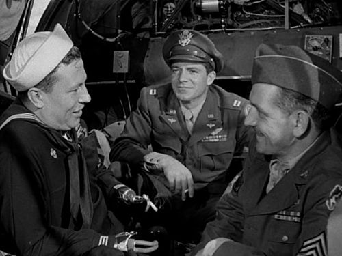 Harold Russell, Dana Andrews and Fredric March