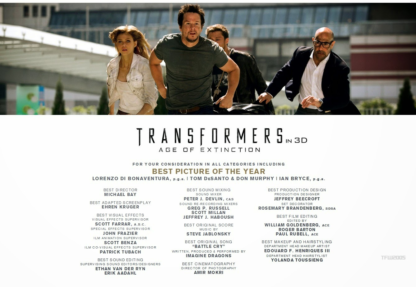 """Should TRANSFORMERS AGE OF EXTINCTION Win """"Best Picture ...  Should TRANSFOR..."""