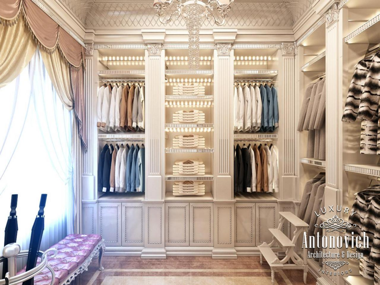Custom Dressing Room Today Is Based On The Use Of New Technologies Which Are Particularly Related To A Method Illumination And Modern Storage Systems