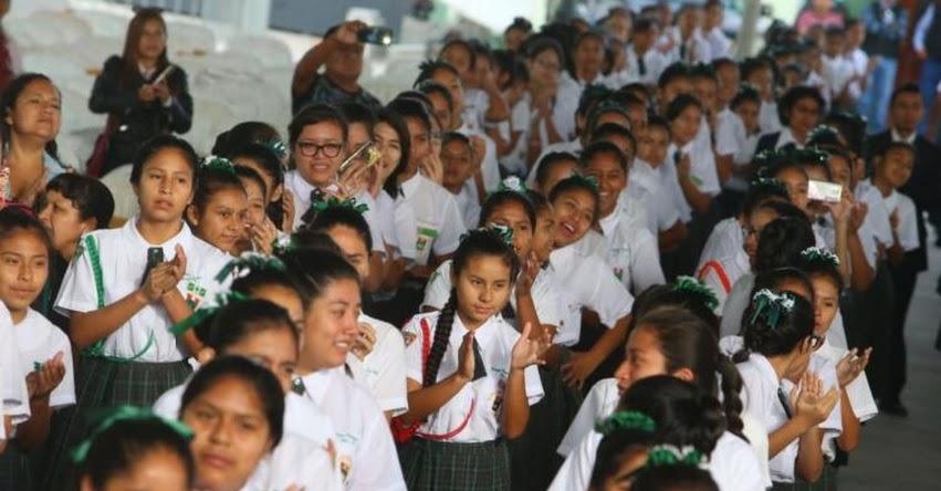 Fortalecerán formación de valores y pensamiento crítico de escolares, informó el Presidente Vizcarra en Mensaje a la Nación
