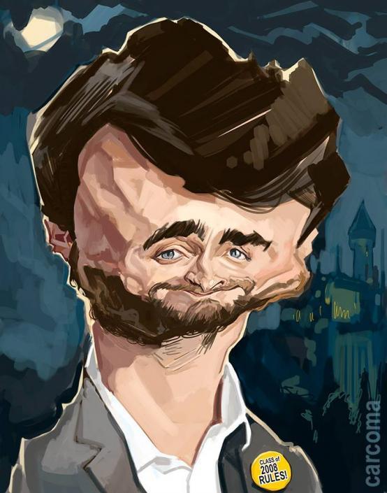 Caricatura de Daniel Radcliffe por Carlos Carcoma