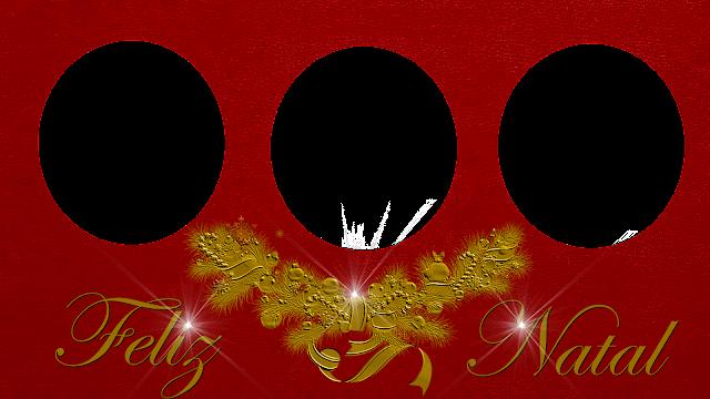Natal Red 50 com Feliz natal mais luz- 3 fotos
