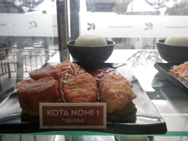 Menu kota nomi 1 di Box Well Kota Cinema Mall