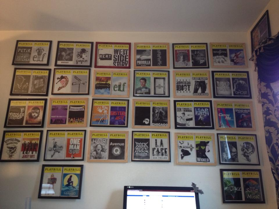 Mr Ferriero S Broadway Blog Display Your Playbills