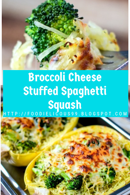 Broccoli Cheese Stuffed Spaghetti Squash