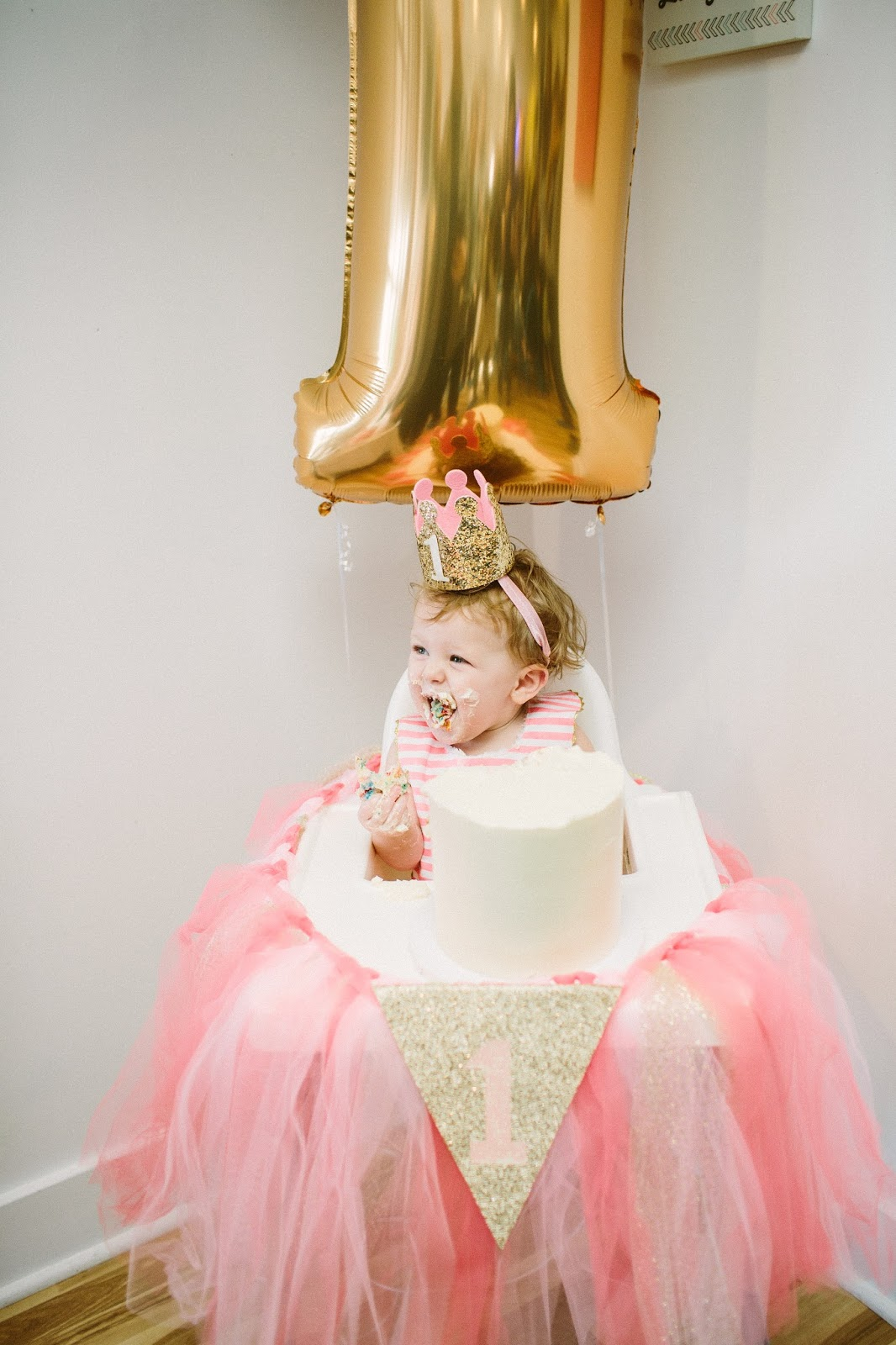 First Birthday Party, Smash Cake, Cute Birthday Girl