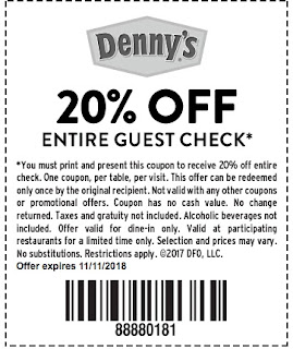dennys coupons online