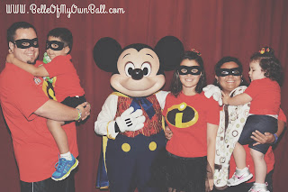 Family Group Photo at Mickey's Not So Scary Hallowen Party