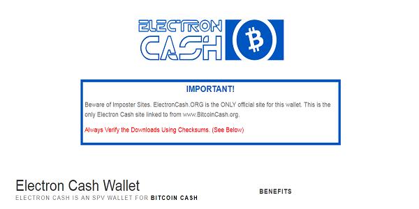 Wallet Electron Cash