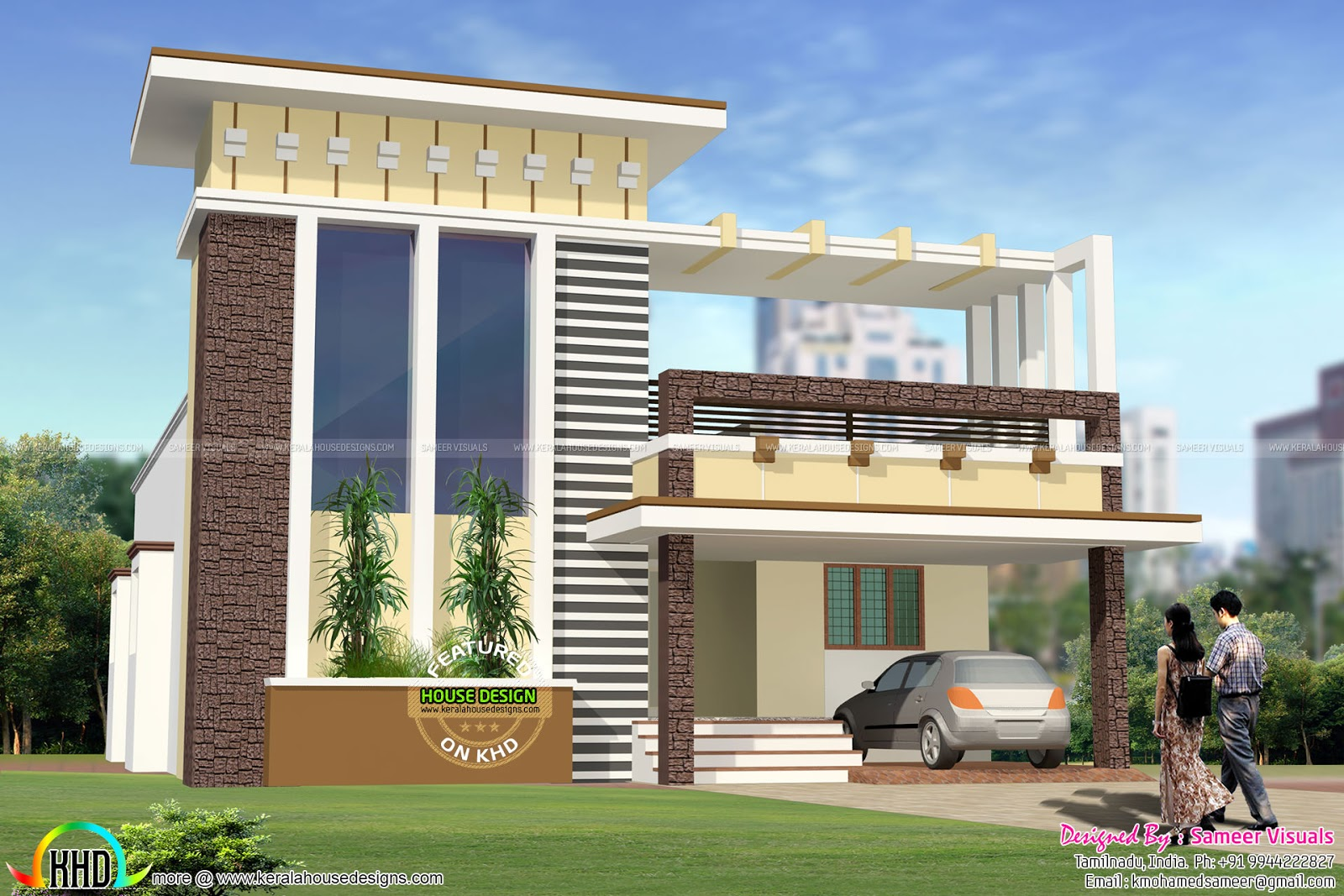 1620 sq ft 2 bhk house architecture kerala home design for Home designs architecture