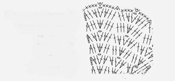 Tığ işi Zigzag Desenli Yelek Modeli Şemalı