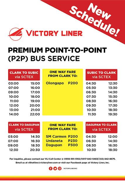 victory liner p2p bus fare
