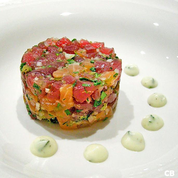 Tartaartjes van tonijn en gerookte zalm