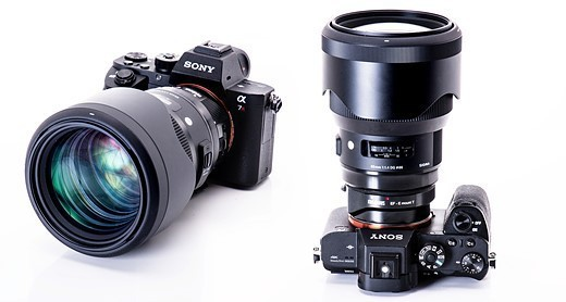 Объектив Sigma 85mm f/1.4 Art установлен на камеру Sony A7R II