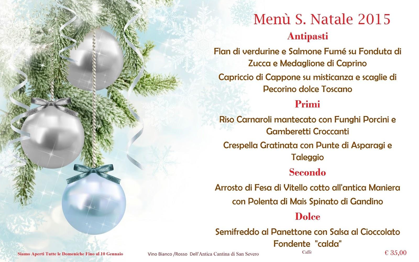 Menu Di Natale Bergamo.Ristorante Pasta E Basta Novembre 2015