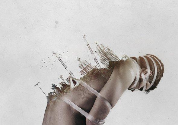 Said Dagdeviren fotografia dupla exposição pessoas cidades arte