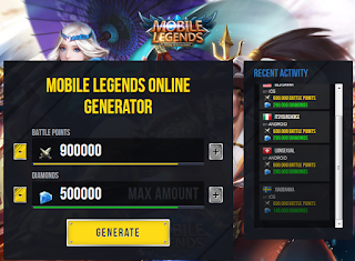 Mobilelegendshack.fun || Hack 900000 BP dan 500000 Diamonds Mobile legends