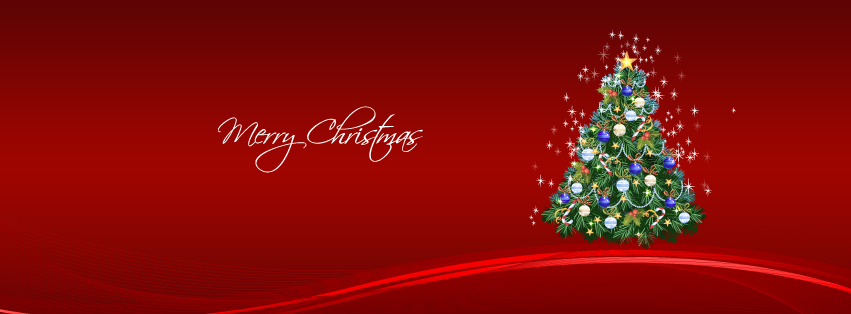 Christmas Facebook red cover