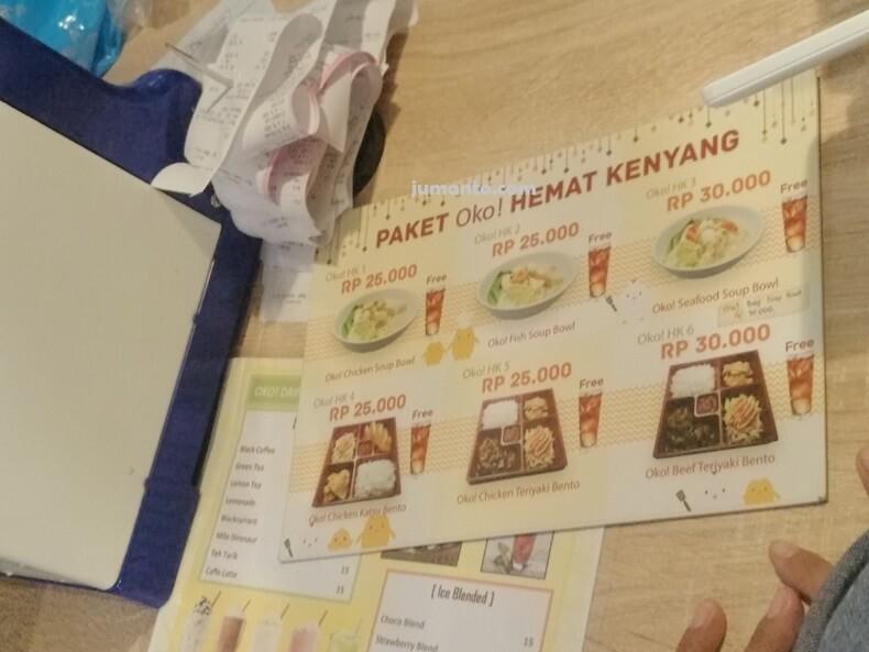 menu makanan okonomix mbk lampung