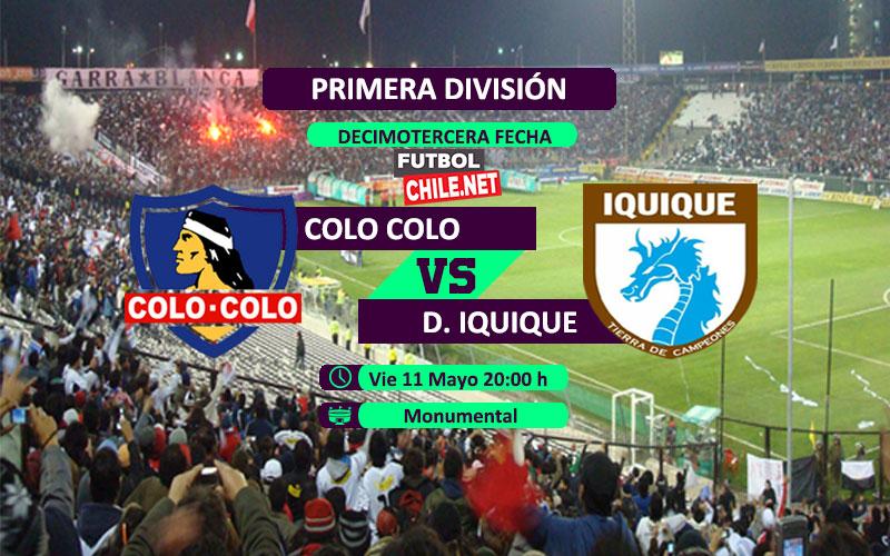Mira Colo Colo vs Deportes Iquique en vivo y online por la Primera División