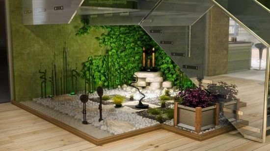 DECORAR JARDINES EN INTERIORES by artesydisenos.blogspot.com