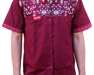model baju batik atasan kombinasi polos