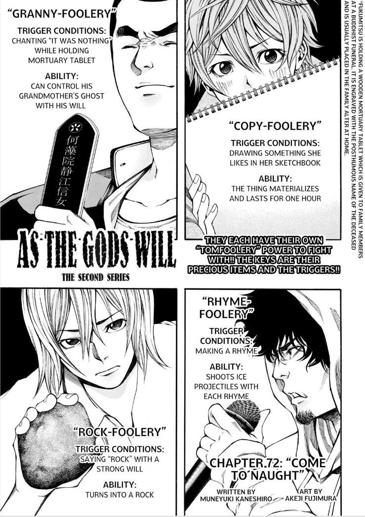 Kami-sama no Iutoori Part 2 - Chapter 72