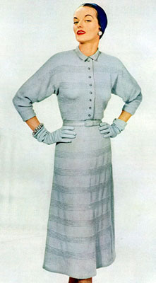 The Vintage Pattern Files : Free 1950's Knitting Pattern - Graceful Living Blouse
