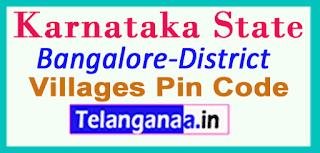 Bangalore District Pin Codes in karnataka State