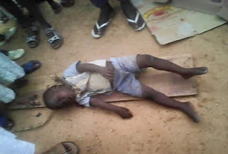 Corpse of a three year old boy believed to have been strangled found inside a primary school in Kano