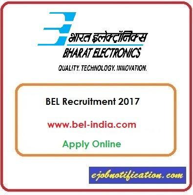 BEL jobs in India BEL Recruitment 2017 Apply Online