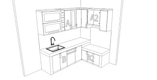 Kitchen Set Bentuk L Minimalis - Furniture Semarang