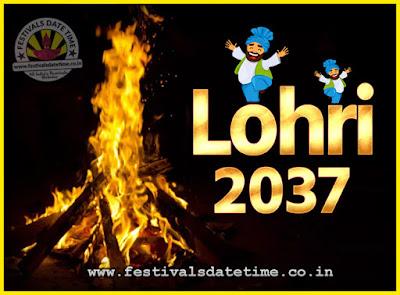2037 Lohri Festival Date & Time, 2037 Lohri Calendar