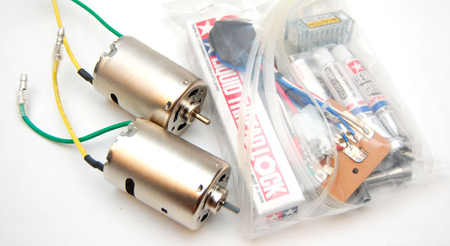 Tamiya TXT-1 motors and esc