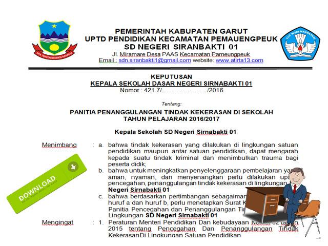 Contoh SK Aman Sekolah Untuk Input Pada Aplikasi Dapodik Terbaru