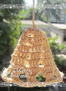 crochet xmas bells