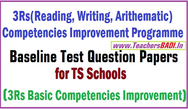 Baseline Test Question Papers,Children Achievement Level Test,CALT,3Rs Programme