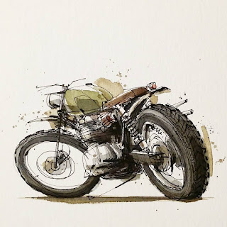 CB750 Sketch Illustration
