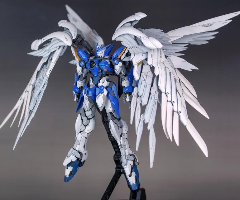 Custom Build Hirm X Mg 1 100 Wing Gundam Zero Custom Ew Gundam Kits Collection News And Reviews