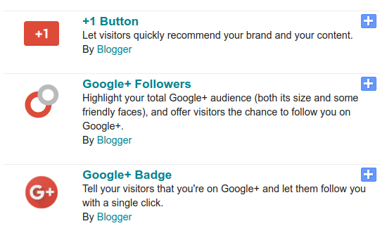 Google+ and Blogger
