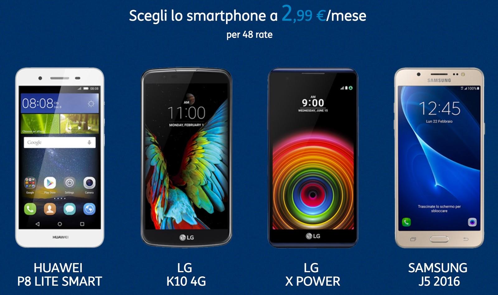 Smartphone con TIM a 2,99 €/mese per 48 rate