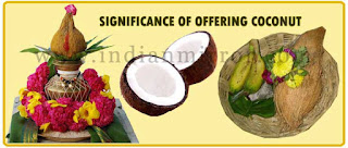 Image result for Do you know why coconuts are offered to deities in temples?