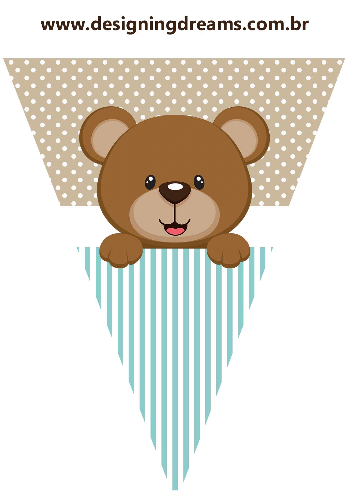 Teddy Bear For Boys Free Printable Mini Kit