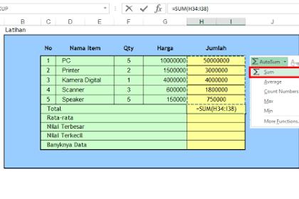Cara Memahami Rumus Excel Dasar dengan Mudah