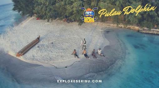 pulau dolphin di pulau Harapan Kepulauan Seribu Utara