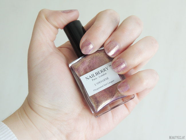 revue avis test vernis nailberry vegetaliens vegan pink sand swatch
