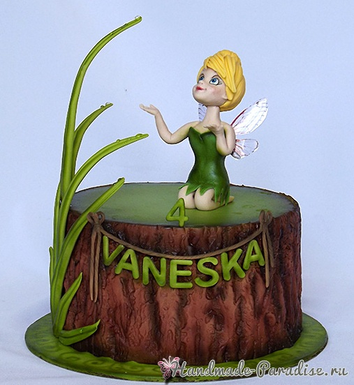3D торт лесной тематики из сахарной мастики (16)