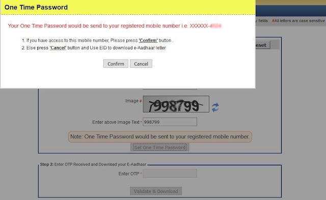 Download Aadhaar OTP