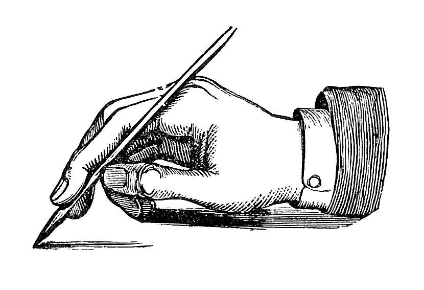 clip art images handwriting - photo #37