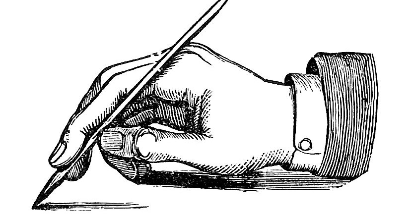 Antique Images: Vintage Hand Graphic: Hand and Writing